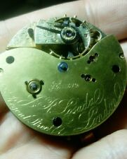 J R Losada, 105 Regent Street, London Pocket Watch Movement 1885 - Not Working
