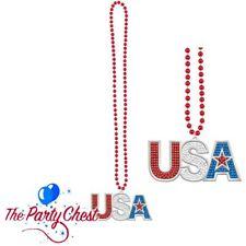 USA Bling Perle Collier rouge bleu et blanc 4th juillet American Celebration Perles