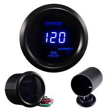 """HS New Car Motor 2"""" 52mm Digital LED Elec Black Oil Press Pressure Gauge +Holder"""
