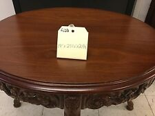 Oval French Walnut  Carved Coffee Table