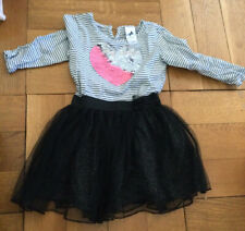 2 Kleidchen Tüllrock Pailletten Prinzessin 104 Palomino