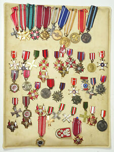 45 polnische Miniatur Orden Abzeichen Auszeichnung emailliert Militär Polska !