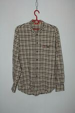 Mens Fjallraven Checked Travel Outdoor Long Sleeve Logo Shirt Cotton size M