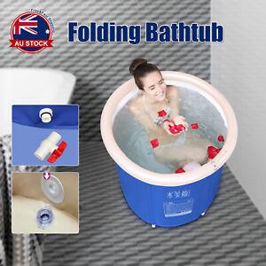 Folding Bathtub Portable PVC Foldable Water Tub Place Room Spa Bath Tub Adult D