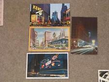 New York City Advertising Postcards (3) unused cards, 1 used