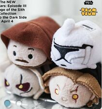 Disney USA Star Wars Episode III Revenge Of The Sith Tsum Tsum Set OF 4 NWT