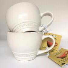 *New* LE CREUSET Grand 400ml Cappuccino Mugs *Set of 2* Cotton White BNIB / BNWT