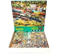 Springbok WHISTLE STOP 1000 PC Jigsaw Puzzle PZL6146 1990 Trains Train Railroad