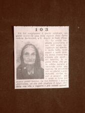 Anna Spina di Sant'Angelo in Vado nel 1935 103 anni Vedova Bertuccioli Pesaro