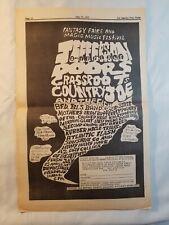 Vintage Ad The Doors Jefferson Airplane July 15/16, 1967 La Free Press Unframed