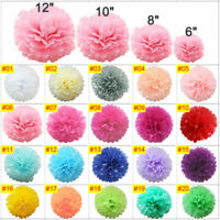 Mixed Tissue Paper Pompoms Wedding Party Decoration Pom Poms Ball 5 Sizes Lot Du