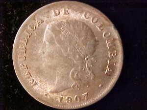 COLOMBIA 50 CENTAVOS 1907