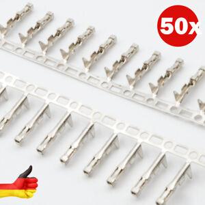 50 Stück Crimpkontakte für Pinheader Raster 2,54mm Buchse, für Kabel und lötbar