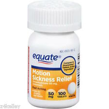 Motion Sickness and Nausea Relief Equate Brand USA 100CT 50mg