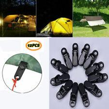 10pcs awning clamp tarp clips snap hangers tent camping survival tighten tool UK