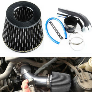 3 Inch Aluminum Alloy Universal Pipe Turbo Piping Cold Air Intake Filter+Clamp