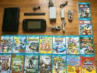 320GB Black System Console Lot Bundle + 50pcs GAME FREE For Nintendo Wii U Used
