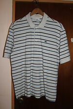 Lacoste Men's Beige Stripe Polo Shirt Size 6 Large RN 87651 CA 16998