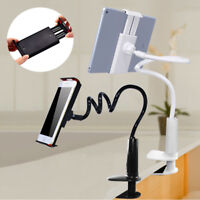 360° Flexible Long Arm Lazy Stand Clip Holder For iPhone Tablet iPad Desktop Bed
