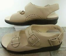 SAS Shoes Sandals Women Relaxed Bone Leather 7.5 W New
