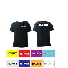 T-shirt SECURITE NOIR/BLANC/ROUGE/ORANGE/BLEU NUIT/CIEL/GRIS/JAUNE RECO-VERSO