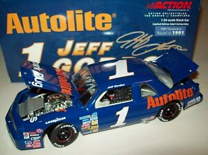 Jeff Gordon 1989 Autolite #1 Ford Thunderbird Raced 1991 NASCAR Diecast 1/24
