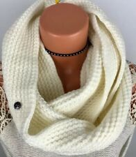 BCBGeneration Knit Round Cowl Neck Infinity Scarf Moon Beam Ivory Cream NEW
