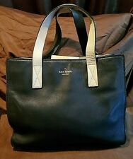 Kate Spade Black and Tan Leather Tote