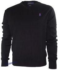 Ralph Lauren Herren Pullover Pulli Feinstrick V-Neck Pima Cotton Original S-XL