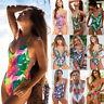 2019 Women Floral One Piece Swimsuit Push-up Padded Bikini Swimwear Bathing Suit
