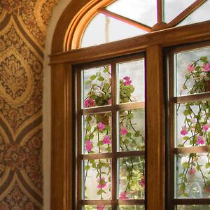 Pair of Hanging Fuchsia plants -macrame holders -Miniature Dollhouse Florals1:12