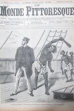 LE MONDE PITTORESQUE N° 121 de 1885 NOUVELLE ZELANDE CANNIBALE  ATTAQUE NAVIRE