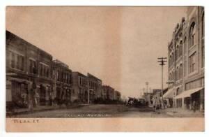Tulsa I.T. Indian Territory - Oklahoma Street Scene RPPC Undivided Back Postcard