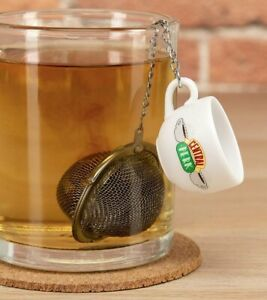 Friends TV Show Central Perk Tea Infuser Stainless Steel Coffee Cup LICENSED