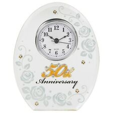Wedding Anniversary Clocks 25th 30th 40th 50th Silver Golden Pearl Ruby Gift UK