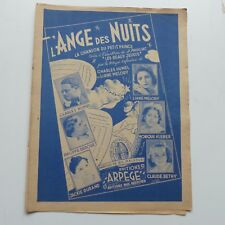 Partition L ange des nuits LIANE MELODY HUMEL KLEBER BETHY JACKIE DURAND