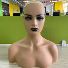 Realistic Female Mannequin Head with Shoulder for Display Hair Wig/Hat/Jewellery