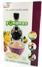 NEW Dole Yonanas Frozen Healthy Dessert Maker 100% Fruit Soft Black and Silver