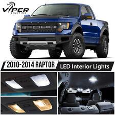 2010-2014 Ford Raptor White Interior LED Lights Package Kit + License Lights