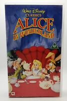 Alice in Wonderland VHS Video Cassette Walt Disney Classics Children's TBLO