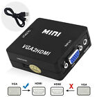 VGA to HDMI Converter Box (PC to HDTV Adapter) High Resolution For 4K ARC HEC