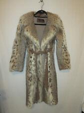 Pierre Cardin Paris for Herbert's Furs San Fran Long American Lynx Coat w/Belt S