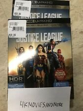 Justice League 4K UHD + Blu-Ray + Digital + Slipcover Brand NEW - FREE SHIPPING