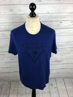 GUESS T-Shirt - Large - Blue - Great Condition - Men's