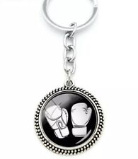 Otros Llaveros, pines y pegatinas NEW BOXING GLOVES PENDANT KEYRING IN POLISHED SILVER BRAND NEW
