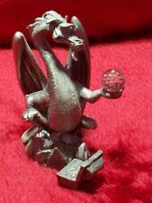 LOTR Rare Pewter 80's Vintage Smaug With Arkenstone And Treasure