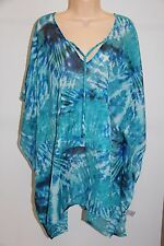 NWT Calvin Klein Swimwear Bikini Cover Up Dress One Size Cerulean