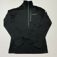 Patagonia Womens Power Dry Pullover Jacket Black Half Zip Fleece Lined Stretch S