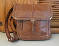 The SAK Brown Leather Backpack PURSE Handbag Roomy Shoulder Bag
