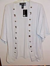 Antthony Open Front Top-Small-White/Siver with BLING!  New with tags.  Bin 2-02
